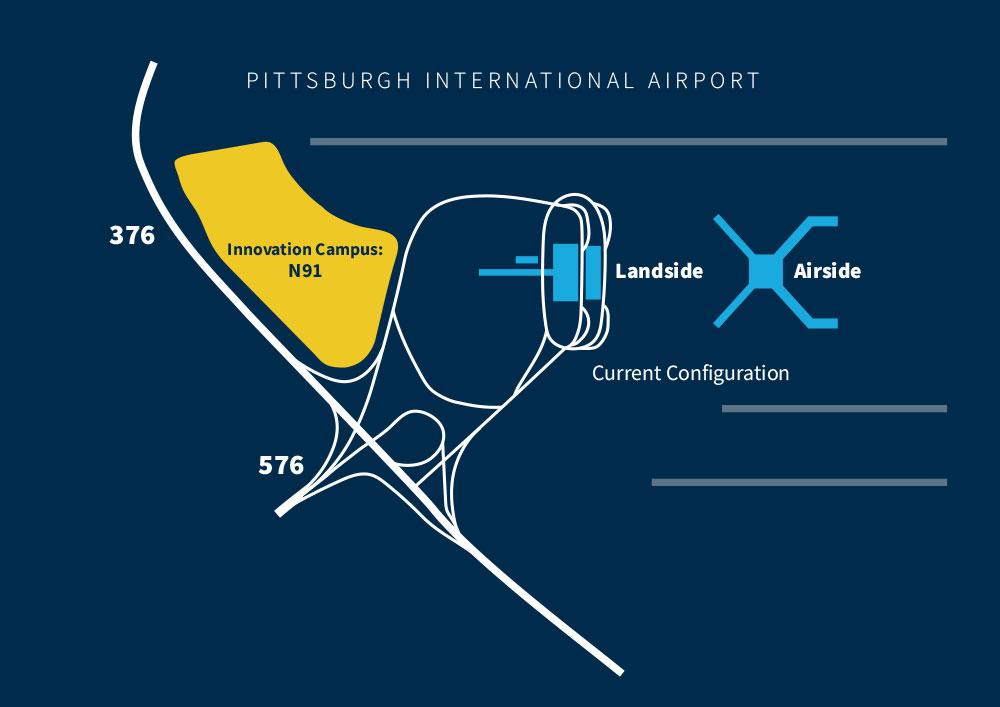 Map of Pittsburgh International Airport